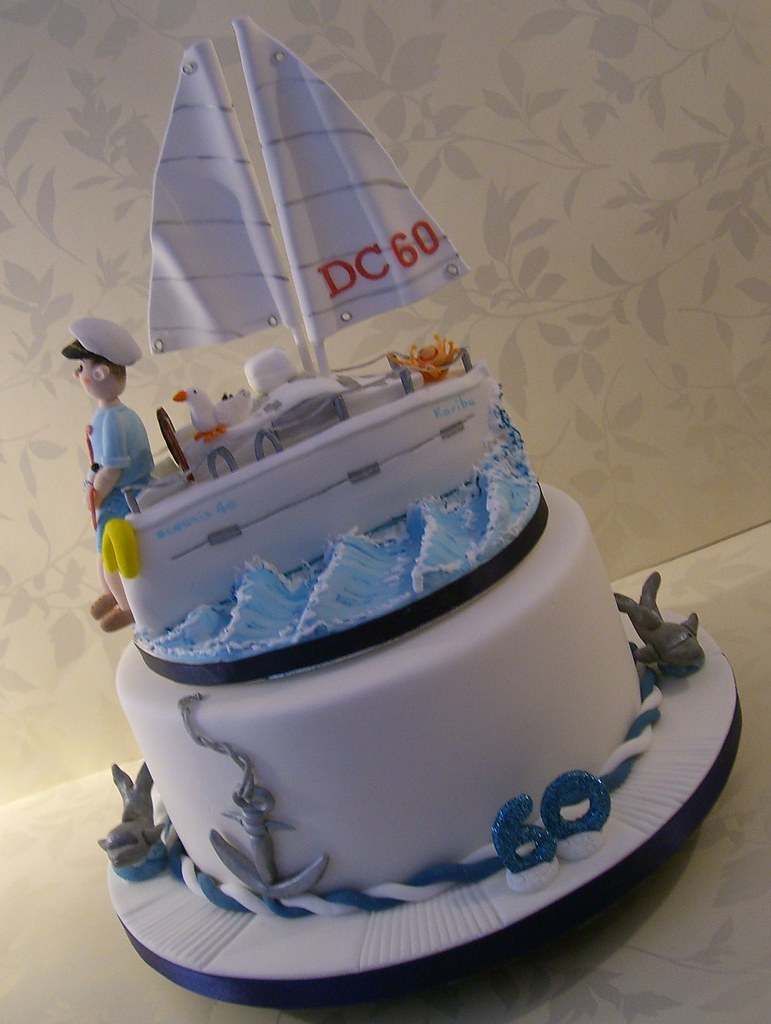 Images Of Cake For Son : Yacht Cake for a 60th Birthday A birthday cake for my ...