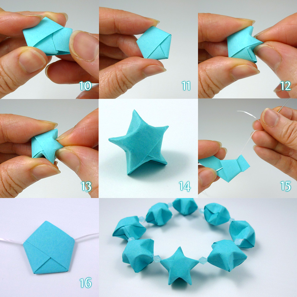 Lucky stars folding steps tutorial by cecelia louie of for Things made from waste paper
