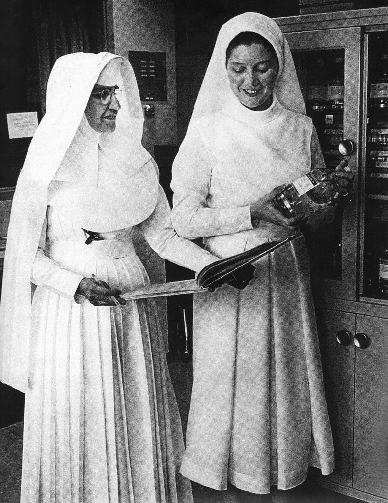 Sisters Of Mercy In The Traditional Nursing Nuns Habit And