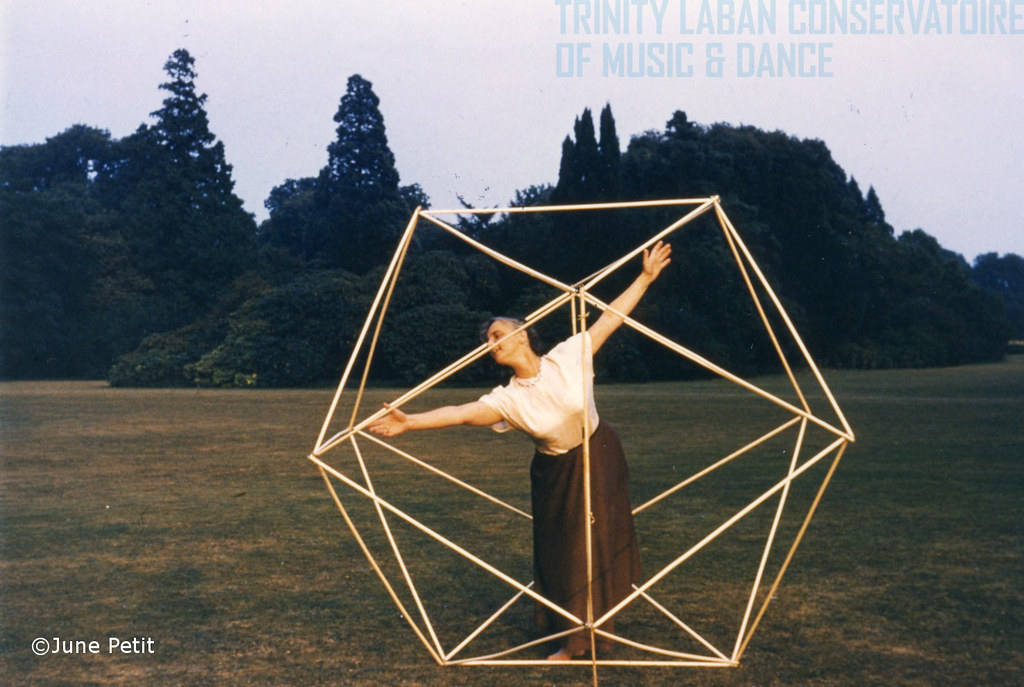 Photograph Of Lisa Ullmann Working In A Life Sized Icosahedron During Summer School At Ashridge