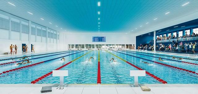Hart van Zuid zwembad