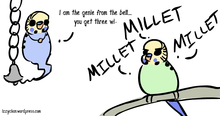 I am the genie from the bell you get three wishes millet