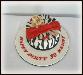 Astounding Dirty 30 Cake Small 7 Inch Rich Chocolate Mudcake Filled Flickr Funny Birthday Cards Online Hetedamsfinfo