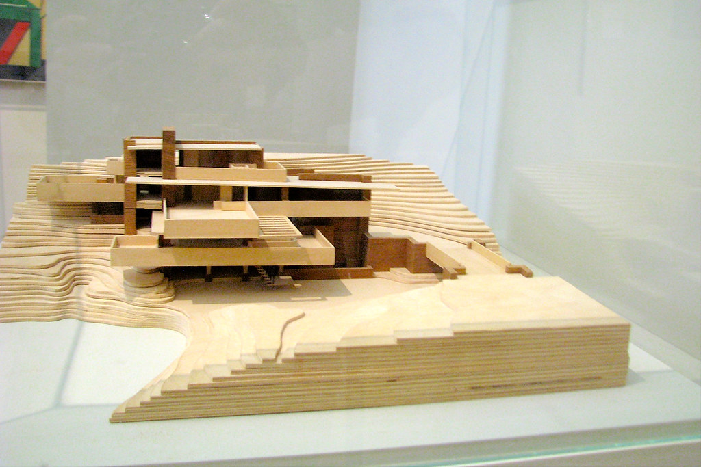 de stijl maquette villa fallingwater frank lloyd wright flickr. Black Bedroom Furniture Sets. Home Design Ideas