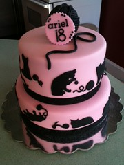 Cat themed birthday cake Paige Flickr
