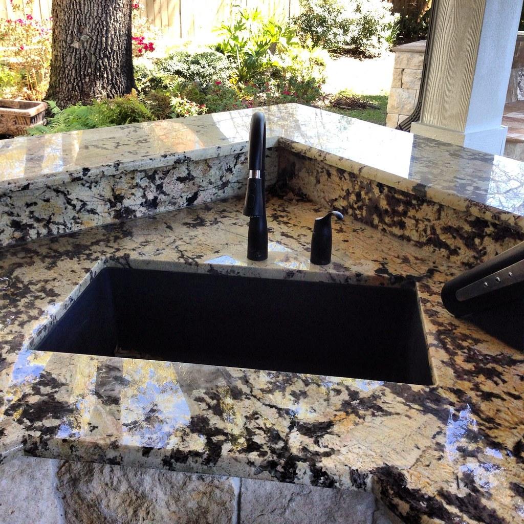 Granite Sink In Outdoor Kitchen