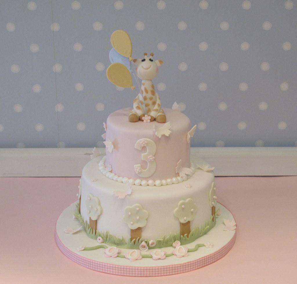Sophie Giraffe Themed Birthday Cake Vintagehousebakery Flickr