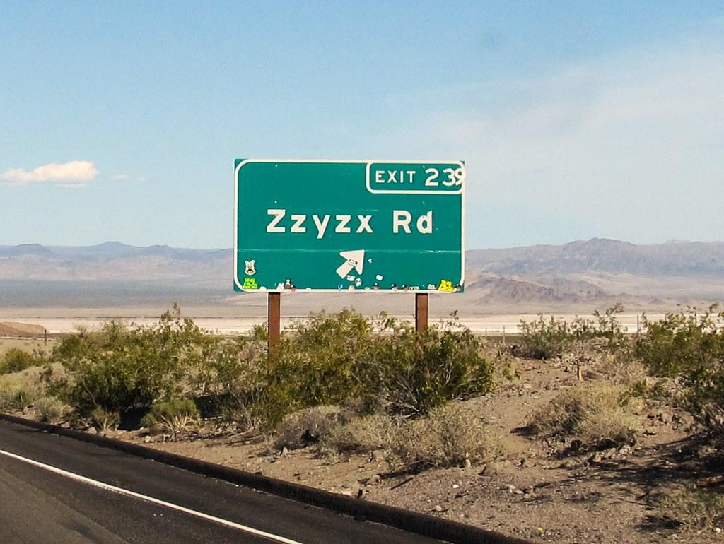 Zzyzx Road I 15 Near Baker California Zzyzx