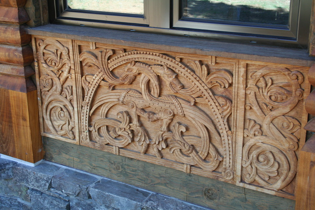 Viking Dragon Carving In Teak Inspiration Came From The