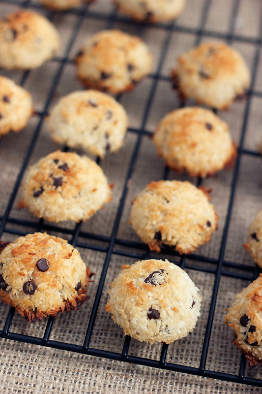Chocolate Chip Coconut Macaroons - Gluten-free + Dairy-free