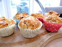 Bacon and apple muffins