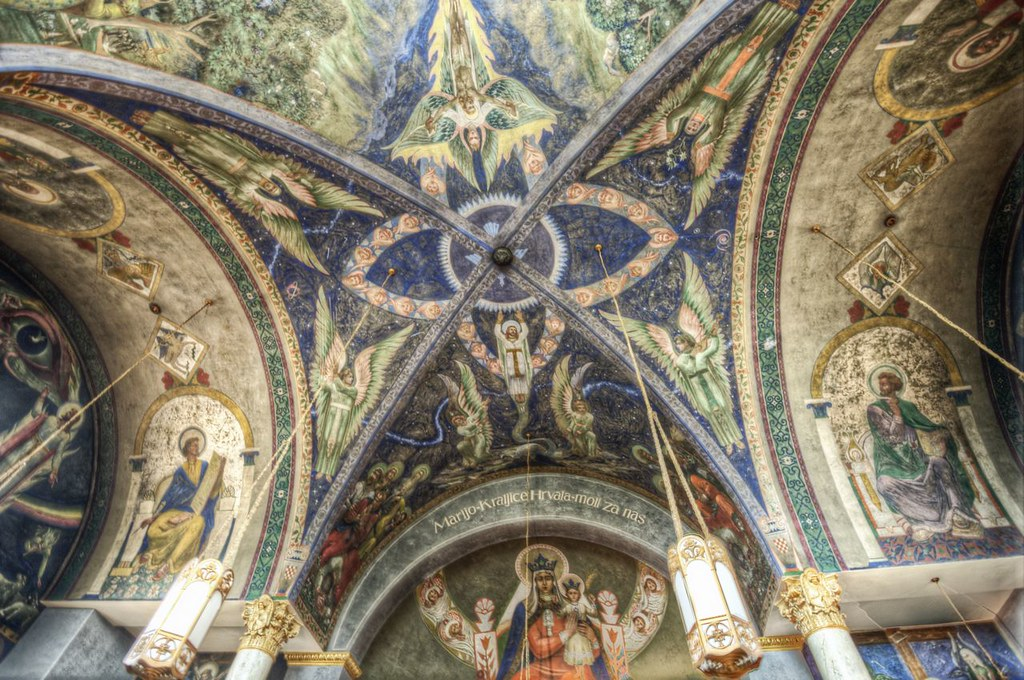 the ceiling of st nicholas church in millvale pa hdr flickr