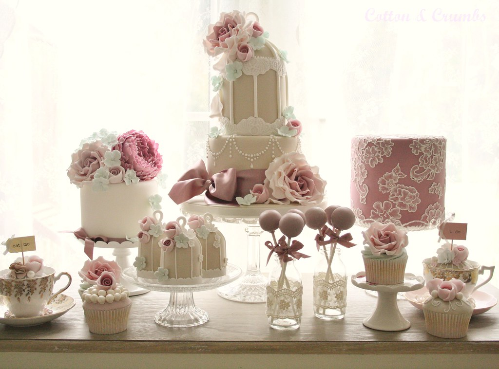 Cake Dessert Table Love Turquoise Mocha Pink And Mauve