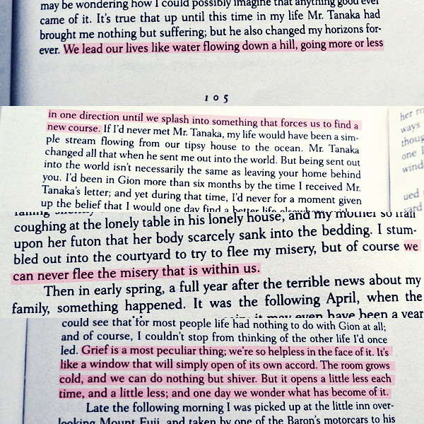 Book from geisha memoir quote