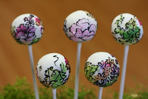 Flowery Watercolor Cake Pops | by Sweet Lauren Cakes