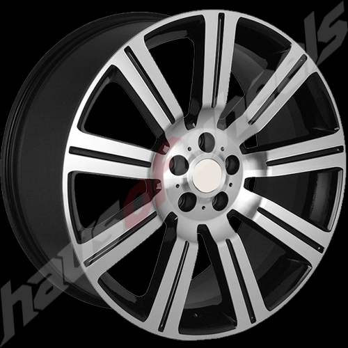 New Land Rover Discovery >> RF 358 Range Rover Gloss Black Machined Replica Wheel Whee ...