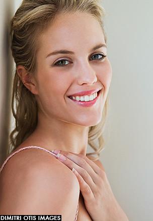 Blonde facial natural #4