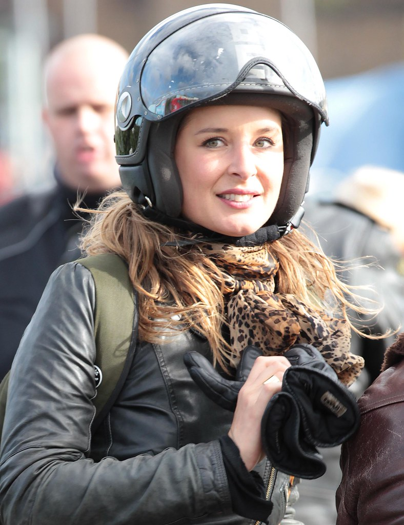 Motorcycle Woman Wearing Helmet Anja Schmidt Flickr