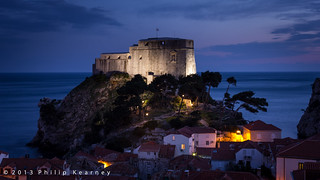 Dubrovnik Castle at night | by Philip Kearney