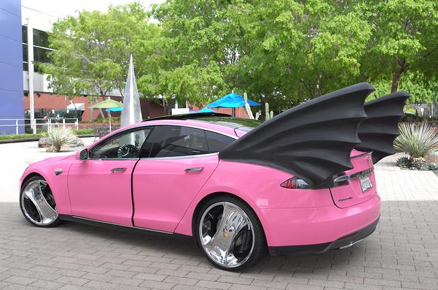 Google Co-founder Sergey Brin's Tesla Model S Pink ...