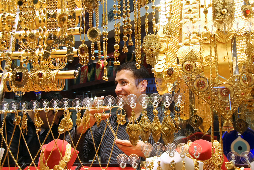 A man in the gold jewelry shop Istanbul Grand bazaar Tur Flickr