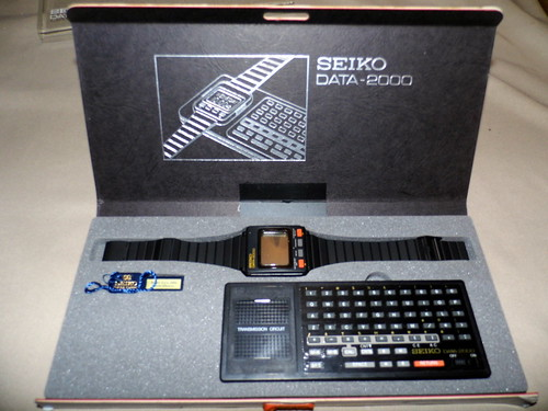 Seiko Data-2000, The First Computer Watch, Circa 1983/1984, LCD Watch with Docking Station | by France1978