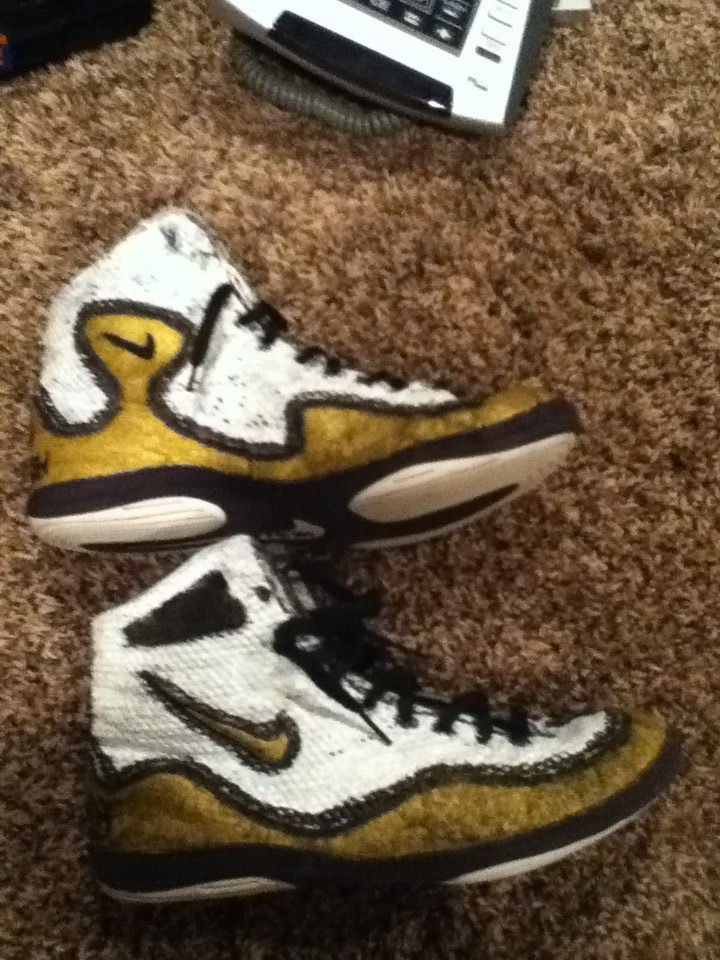 Custom nike inflict wrestling shoes | Willing to trade | Blake ...