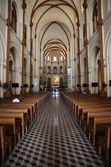 Interior of the Saigon Notre-Dame Basilica