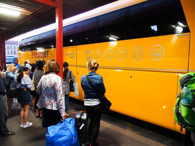 捷克/布拉格–往Český Krumlov–巴士客運/student agencye購票與搭乘