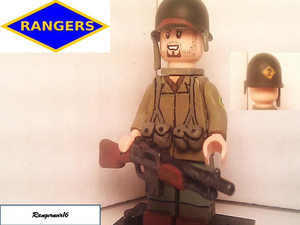 lego custom minifigure wwii us 75th ranger bar gunner flickr. Black Bedroom Furniture Sets. Home Design Ideas