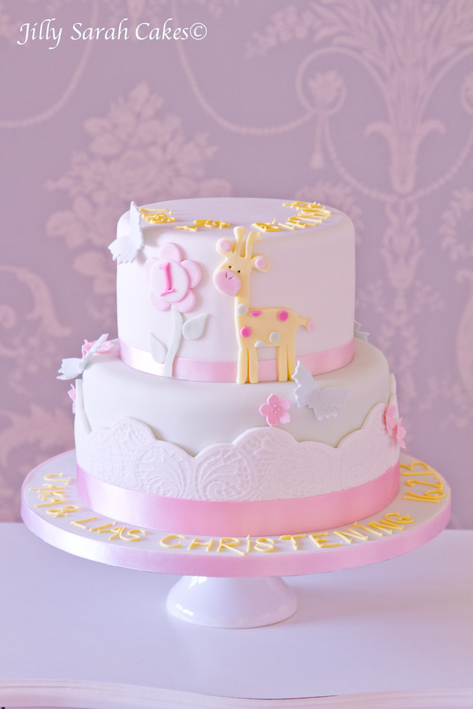 Christening And 1st Birthday Cake This Was A Joint