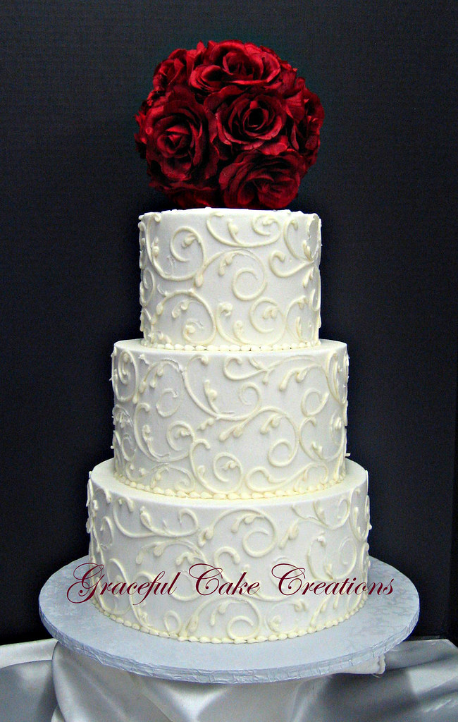 how to ice a wedding cake without marzipan white buttercream wedding cake grace tari flickr 15749