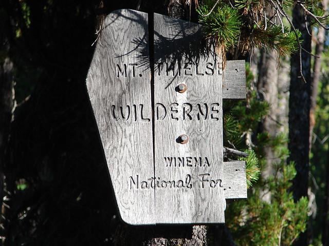 Mt. Thielsen Wilderness sign