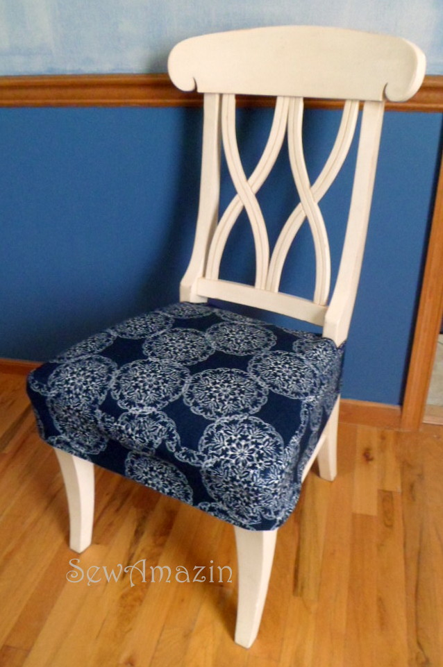 Dining Kitchen Chair Seat Cover Front Angled View Blogged Flickr