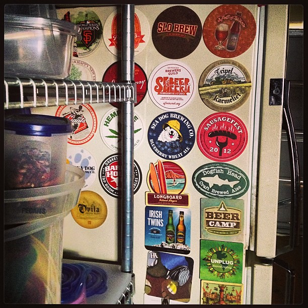 Displaying my beer coaster collection beer coasters di for Cool beer cap ideas