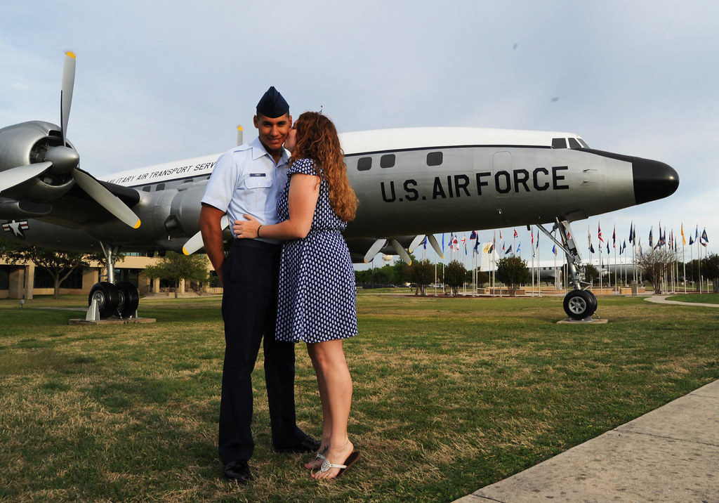 Girlfriend Kisses Airmen After Bmt Graduation Prade Image
