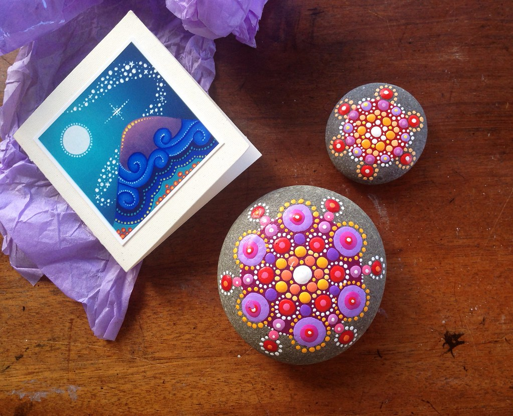 My gorgeous new painted pebbles by elspeth mclean - River rock painting ideas ...