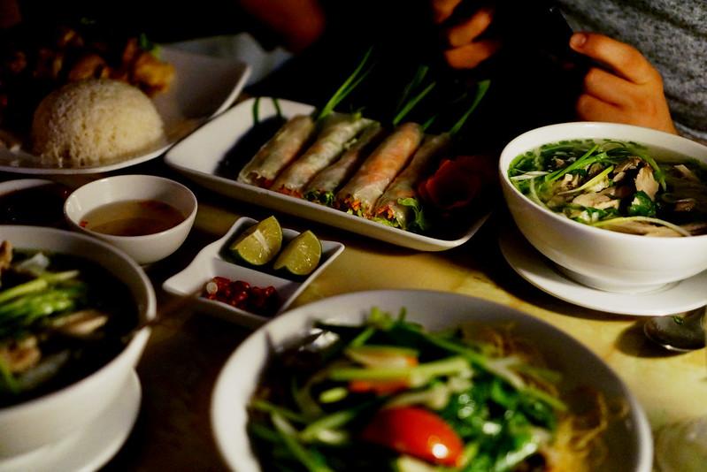 first dinner in hanoi