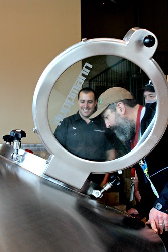 John from Rogue Ales looking in | by DeschutesBrewery