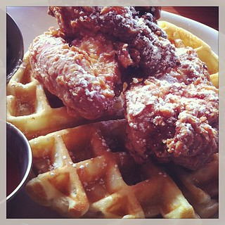 Chicken & waffles at Sweetery. | by howyadoin