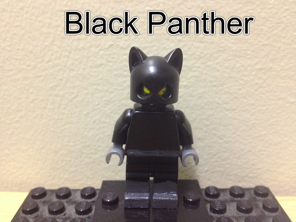 Custom lego Black Panther   One of my favorites ...