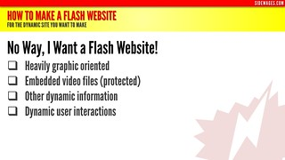 How to Make a Flash Website - PowerPoint Slide #3 | by SideWages