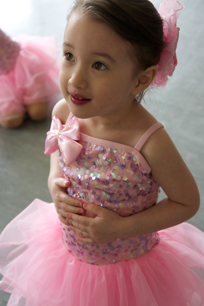 Dressed Up At Dance School For Class Picture Day