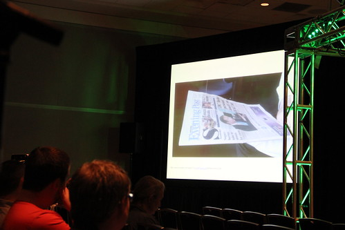Audience watch newsroom reactions to interactive print | by InteractiveNewsprint