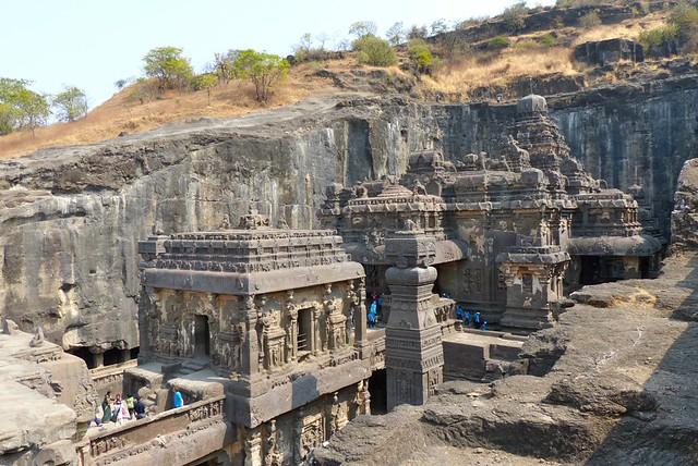 Kailash temple cave 16 ellora maharashtra flickr for Ajanta cuisine of india