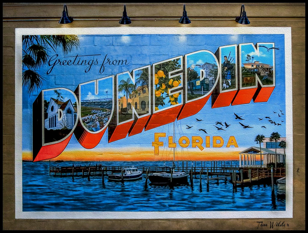 Greetings from dunedin florida building mural on side o flickr greetings from dunedin florida building mural by wilder photoart kristyandbryce Image collections