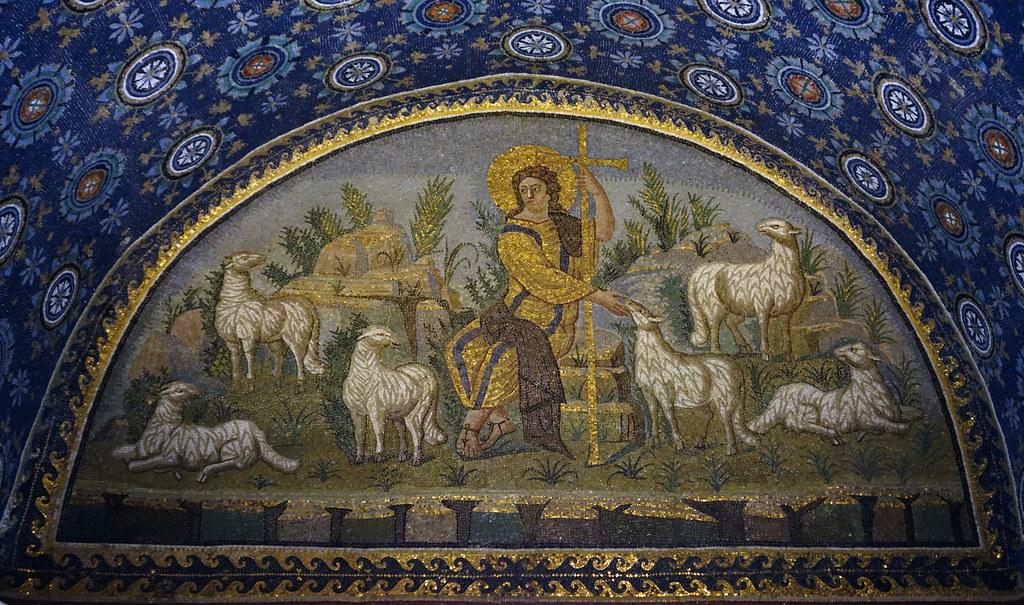 Medieval Good Shepherd Wall Painting East Anglia