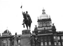 National Museum and statue of Saint Wenceslaus I, Duke of Bohemia