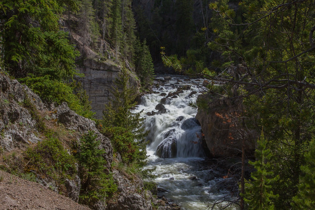 Firehole Falls: Yellowstone National Parks