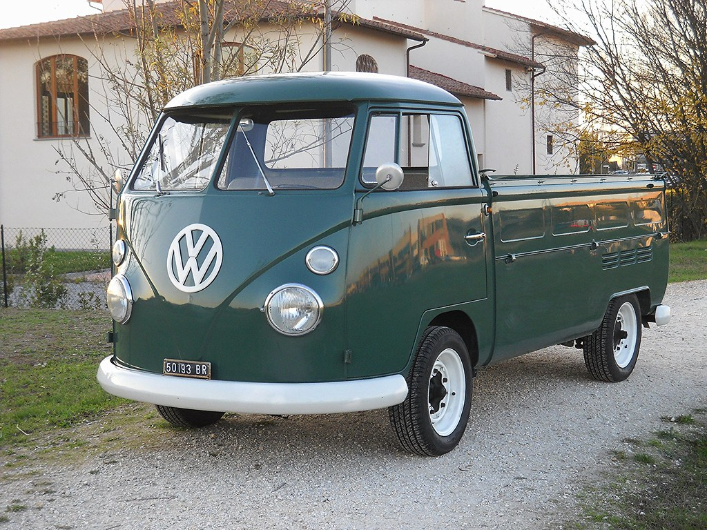 Vw Pickup T1 Single Cab Volkswagen Bus Single Cab Green